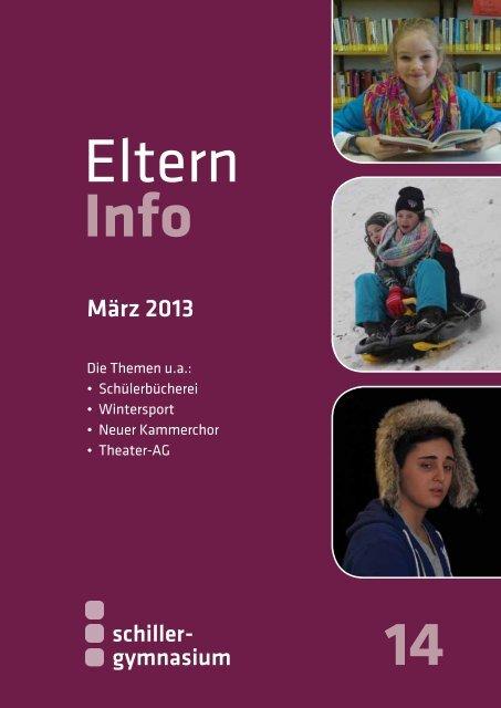 Elterninfo 14 vom März 2013 - Schiller Gymnasium