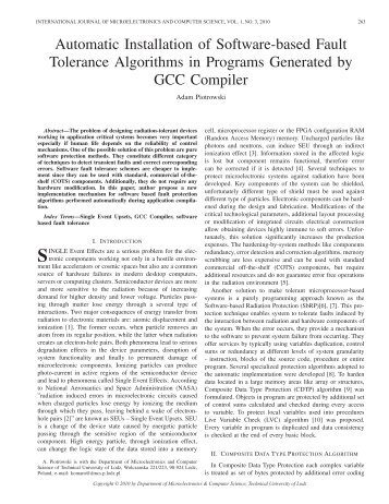 Automatic Installation of Software-based Fault Tolerance Algorithms ...