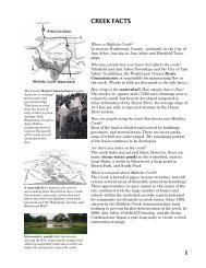 1 CREEK FACTS - Huron River Watershed Council