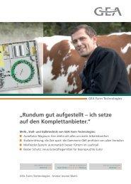 Melk-, Stall- und Gülletechnik von unserem technischen Partner ...