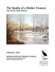 The Quality of a Hidden Treasure: - Huron River Watershed Council