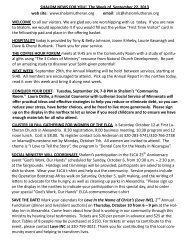 SHALOM NEWS FOR YOU! The Week of September 22, 2013 web site