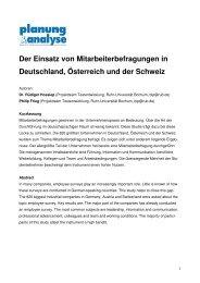 Der Einsatz von Mitarbeiterbefragungen in Deutschland, Österreich ...