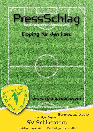 SV Schluchtern - TSV Viktoria Stein