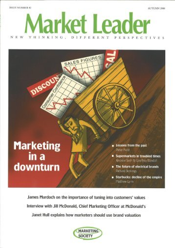 Marketing in a downturn - The Marketing Society