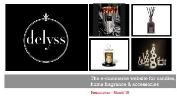 The e-commerce website for candles, home fragrance & accessories
