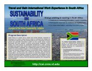 Download the Study Abroad in South Africa brochure - Virginia Tech