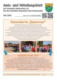 Amts- und Mitteilungsblatt Mai 2015