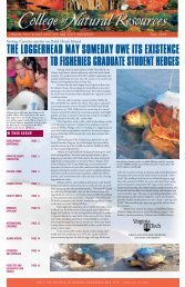 Fall 2005 - College of Natural Resources and Environment - Virginia ...