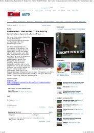 "Elektroroller ""Maximilian II"" für die City"
