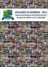 VIOLANDO AS NORMAS 2011 - IBFAN Brasil