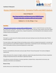 Aarkstore - Bremer Financial Corporation : Company Profile and SWOT Analysis