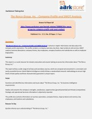 Aarkstore - The Renco Group, Inc. : Company Profile and SWOT Analysis