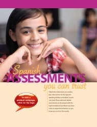 assessments - Speech and Language