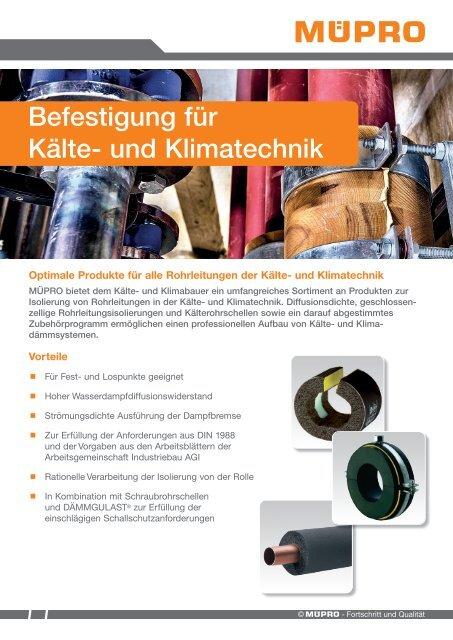 MÜPRO Isolierungen für Kälte- und Klimatechnik DE