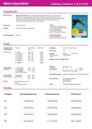 Meine Gesundheit - Otto Hoffmanns Verlag