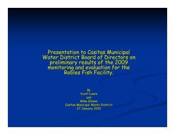Presentation to Casitas Municipal Water District Board of Directors ...