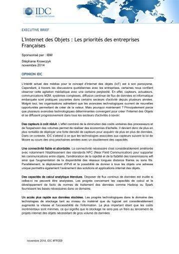 L'Internet des Objets Les priorites des enterprises Francaises carousel offer