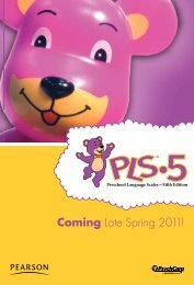 Coming Late Spring 2011! - Speech and Language
