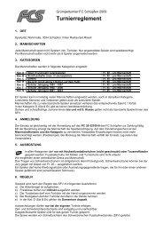 Turnierreglement 2009 - FC Schüpfen