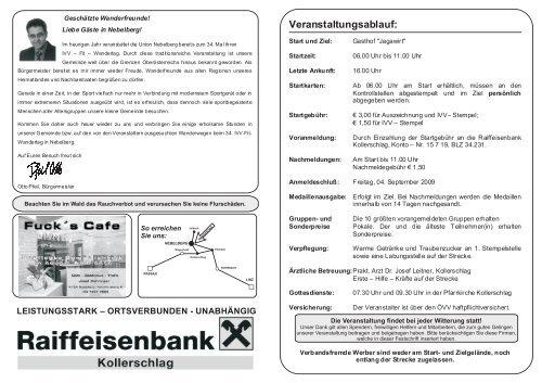 34. IVV - Fit - Wandertag - Union Nebelberg