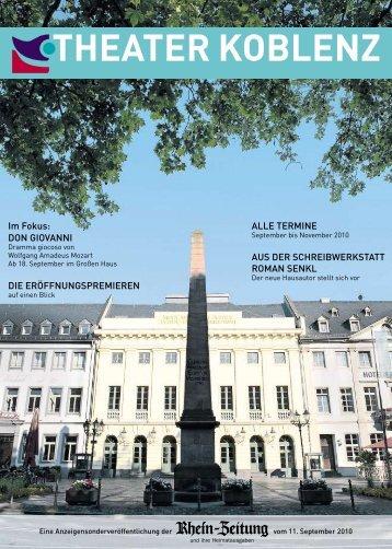 DON GIOVANNI DIE ERÖFFNUNGSPREMIEREN ... - Theater Koblenz