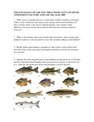 Questions for the week - Florida Rivers Lab