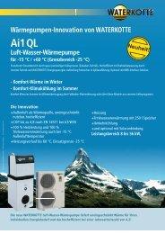 Luft-Wasser Wärmepumpe Waterkotte Ai1 QL - Jutzy Haustechnik ...