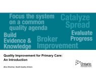 Quality Improvement for Primary Care: An Introduction