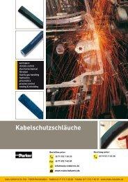 Katalog: 73-4100-DE Kabelschutzschläuche - Parker