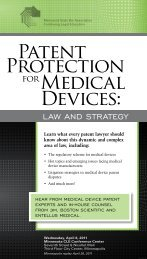 Patent Protection for Medical Devices - Minnesota CLE