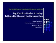 Big Verdicts Under Scrutiny: Taking a Hard Look at the Damages Case
