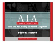 How the AIA Changes Patent Litigation