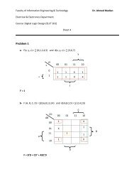 solution tut 4 - Faculty of Information Engineering & Technology