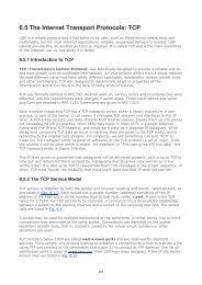6.5 The Internet Transport Protocols: TCP