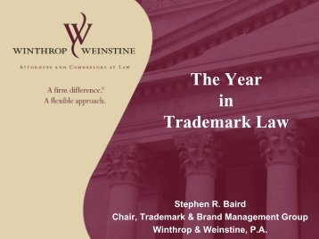 The Year in Trademark Law