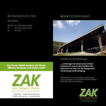 Download Informationsbroschüre Wertstoffhof als PDF