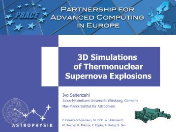 Three-dimensional Simulations of Thermonuclear Supernova - prace