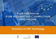Directions in HPC Technology - prace