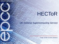 the UK national supercomputing service - prace