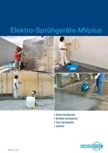 Elektro-Sprühgeräte MVplus - Oilpress Keller
