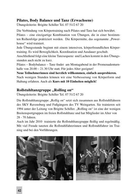 Turnverein Weingarten TV-Mitteilungen - TV Weingarten 1861 eV