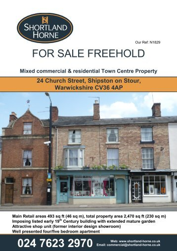 FOR SALE FREEHOLD