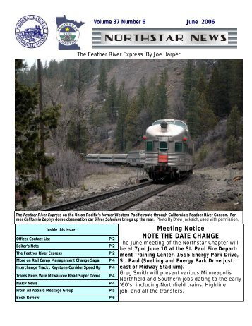 June - Northstar Chapter, National Railway Historical Society