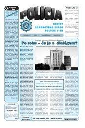Po roku – čo je s dialógom? - Odborový zväz polície v Slovenskej ...