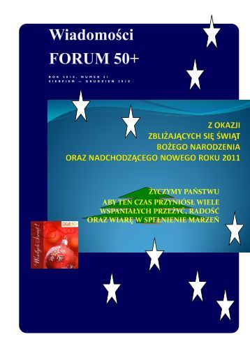 Wiadomości FORUM 50+ - forum50+ seniorzy XXI wieku