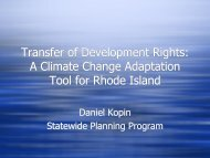 Transfer of Development Rights: A Climate Change Adaptation Tool