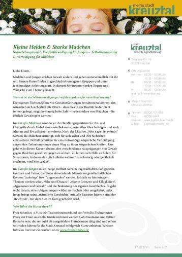 Elterninformation Jungen und Mädchenkurse - Grundschule ...