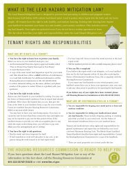 tenants factsheet_05 - State of Rhode Island: Division of Planning