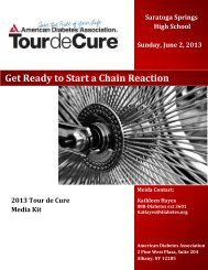 Get Ready to Start a Chain Reaction - Tour de Cure - American ...